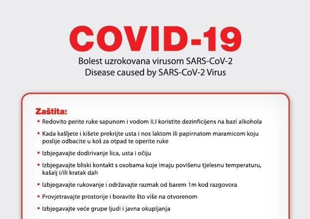 Obavijest – COVID19